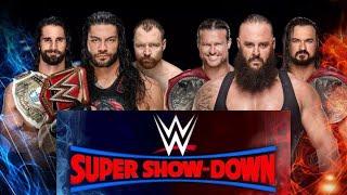 Shield vs Braun Strowman, Dolph Ziggler Drew McIntyre Super ShowDown 2018 | NEWS  SRW