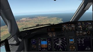 [X-PLane 11 VR] LEBL (Barcelona) to LEIB (Ibiza) with the Zibo 737-800 (English)
