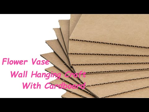 DIY Wall Hanging Flower Vase Using cardboard Handmade Flower Vase Idea flower vase Making at Home
