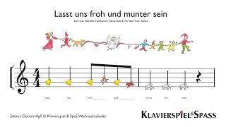 Lasst uns froh und munter sein, Weihnachtslieder, Kinder