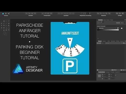 Affinity Designer - Parkscheibe Anfänger Tutorial [Deutsch]