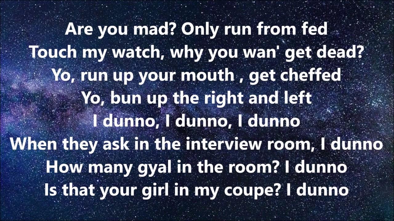 I Dunno by Tion Wayne ft. Dutchavelli & Stormzy Lyrics