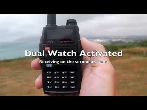 TYT TH-UVF9D VHF UHF radio listening to marine band