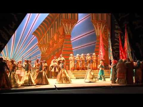 "Behind the scenes of San Diego Opera's ""Aida."""