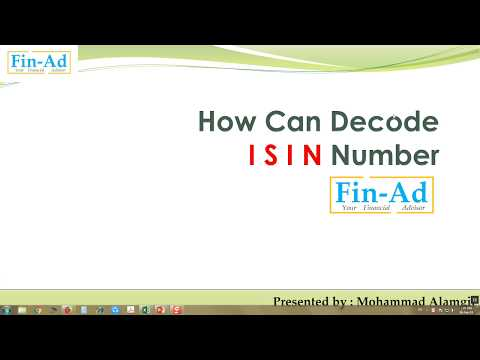 HOW CAN DECODE ISIN WITH EXAMPLE (INDIAN SHARE MARKET), SPECIALLY FOR NCFM TEST