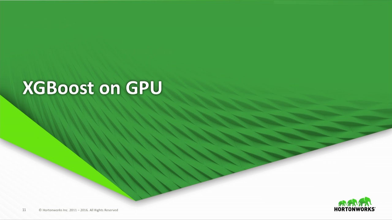 Accelerating XGBoost applications with GPU and Spark