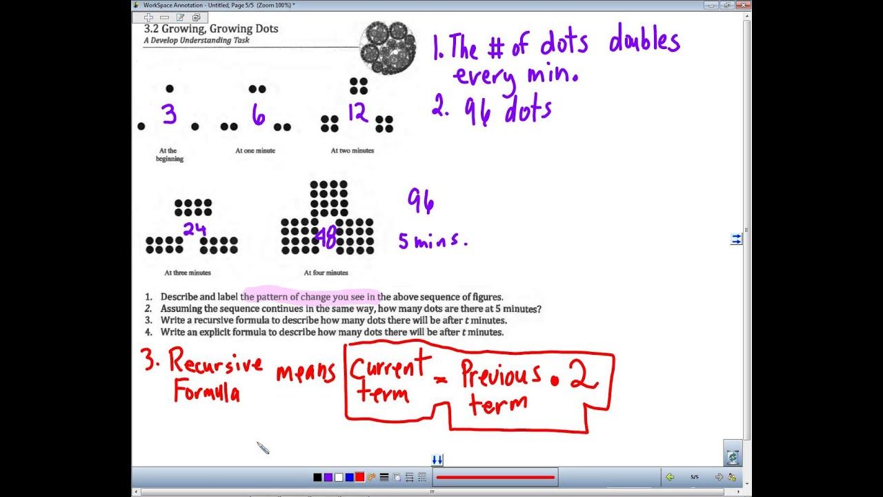 32 Growing Dots Task 1 To 4 No Audio Youtube