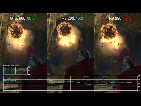 Ryse PC - GTX 980 Vs R9 290/ R9 280 1080p Gameplay Frame-Rate Tests
