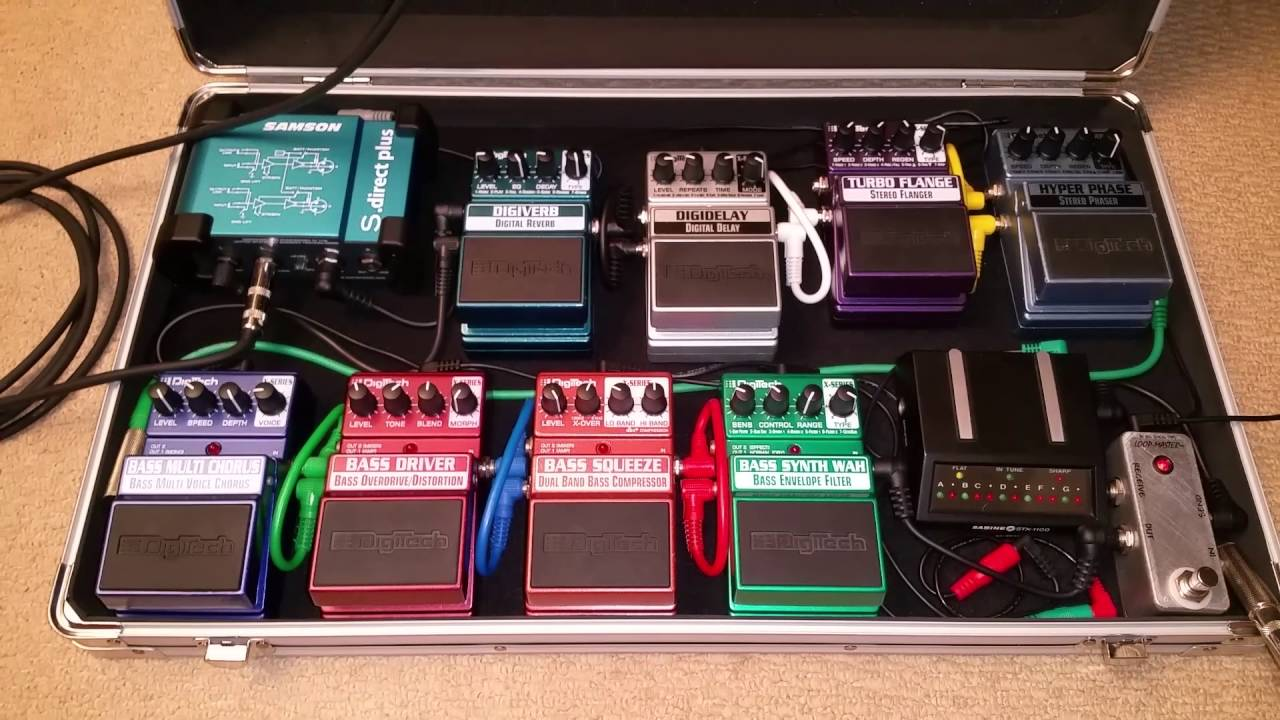 My Bass Pedal Boards Rack Effects Units Amp Speaker Setup