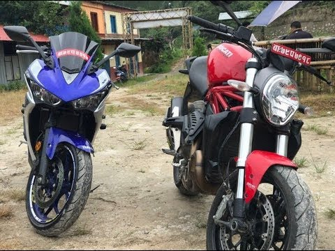 Ducati Monster 821-Yamaha R3 #DHULIKHELRIDE |NEPAL|