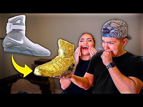 Turning Husbands Nike Air Mags Gold!