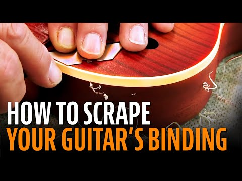 Scraping for sharp looking binding: here's how it's done!
