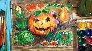 Как нарисовать Тыкву на Хэлуин. Урок рисования для детей от 4 лет, РыбаКит