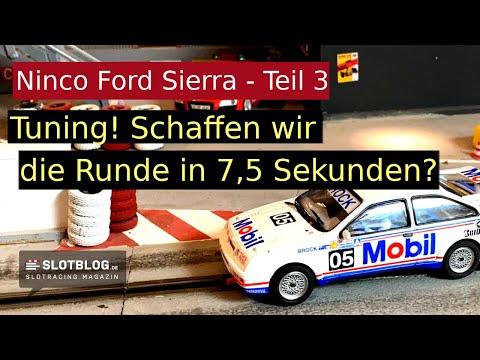 Ninco Ford Sierra Tuning Teil 3 – Schaffen wir die Zielrundenzeit 7,5 Sekunden