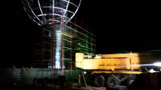أعمال لحام الكرة الارضية على ضفة القناة ليلا28يوليو 2015