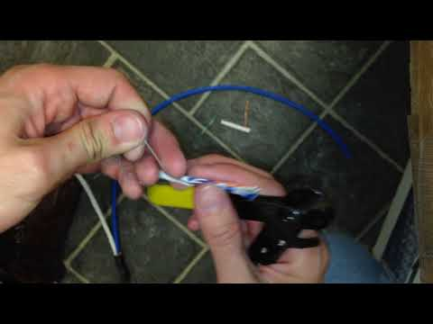 How to properly strip network cable jackets with a clean cut