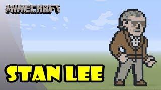 Minecraft: Pixel Art Tutorial: In Rememberance of Stan Lee (Marvel Comics)
