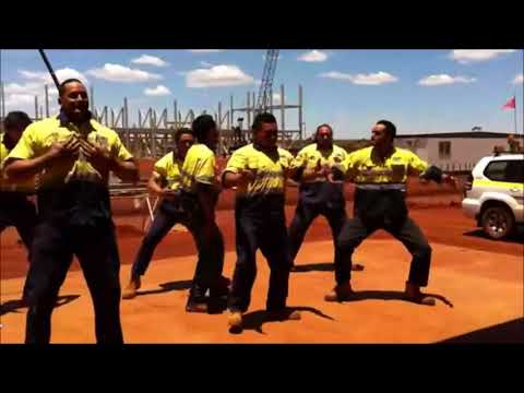 New Zealand Maori Haka At Karara Mine Site In Western Australia