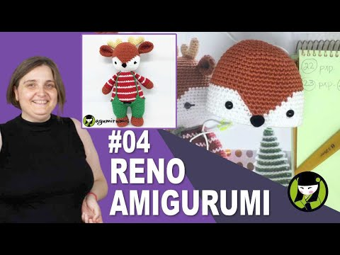 RENO NAVIDEÑO AMIGURUMI 04 reno tejido a crochet