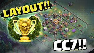 PRIMEIRO LAYOUT DO TORNEIO DE BH7 / CC7 - BASE DO CONSTRUTOR - CLASH OF CLANS