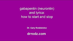 How to take Gabapentin and Lyrica