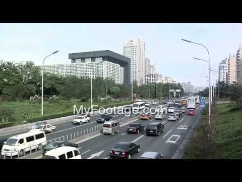 Beijing, China- Afternoon Traffic on Chaoyangmen Daji