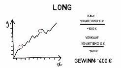 Bei fallenden Aktienkursen profitieren - Long und Short