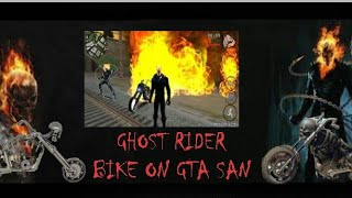 How to get a Ghost Rider Bike, car in GTA San Andreas
