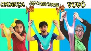 CRIANÇA VS ADOLESCENTE VS VOVÓ FAZENDO AMOEBA / SLIME - ANNY E EU