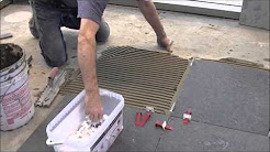 """60-60cm (24""""x24"""") Granite Tiles Installation with T-Lock™ Tile Leveling System"""