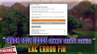 "Fix Fortnite Error Code 20006 ""StartService Failed 1058"" - WORKS 100%"