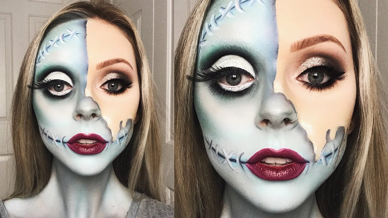 Christmas Halloween Makeup.Glam Sally Nightmare Before Christmas Tutorial