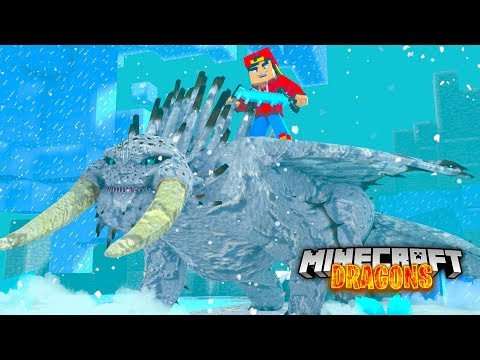 Minecraft DRAGONS - A HUGE SNOW BEWILDRBEAST JOINS OUR NATION!!!