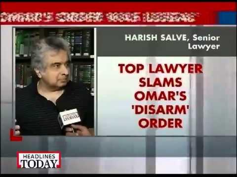 Omar's order to CRPF jawans was illegal: Salve