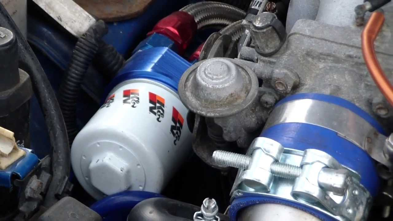 Ram 1500 Bumper >> Oil Filter Relocation Kit fitted to MX5 Turbo by ProFlow