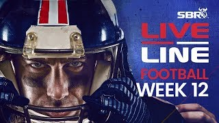 NFL Week 12 Early Games Preview + Live Odds | Live Line