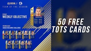 HOW TO GET 50 FREE TOTS CARDS! FIFA 18