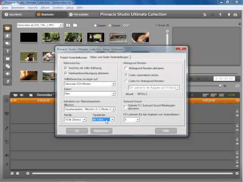 Video  Audio Voreinstellungen in Pinnacle Studio 14 und 15