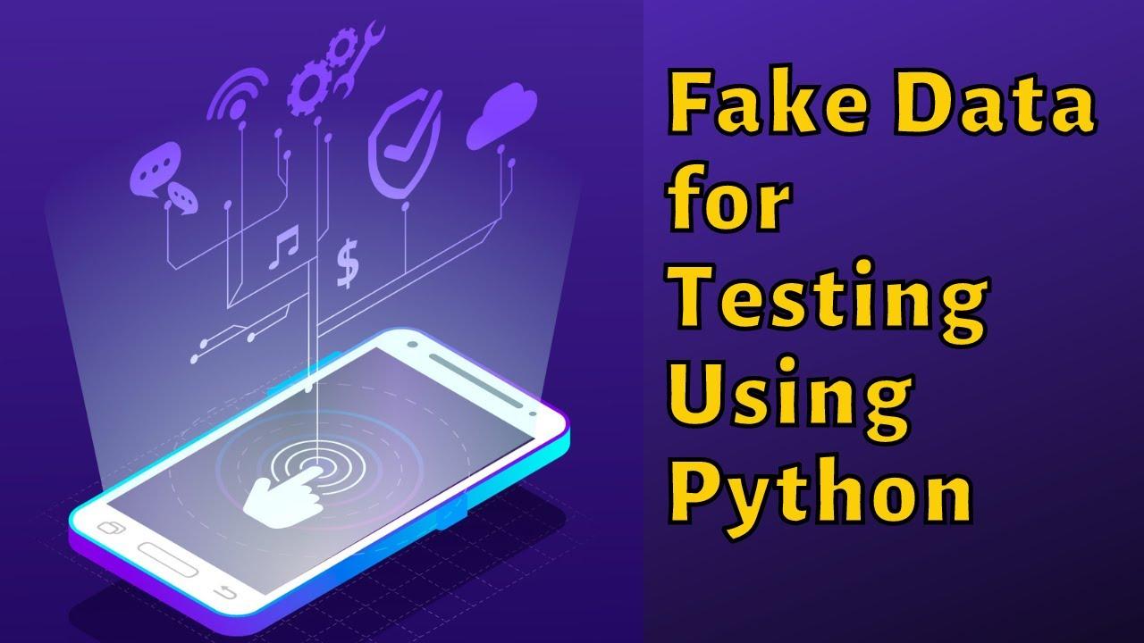Create Dummy or Testing Data using Python
