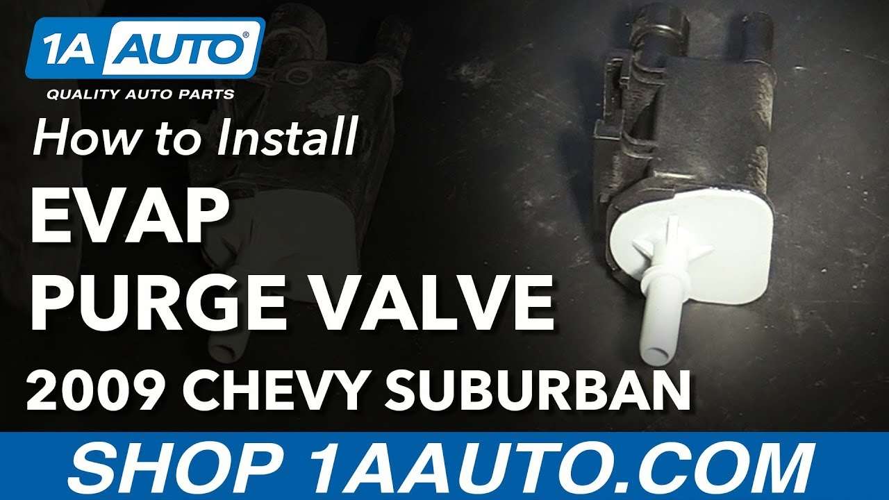 how to replace evap vapor canister purge valve solenoid 07-12 chevy  suburban 1500