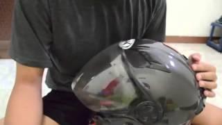 Xiaomi Yi Camera - Cara memasangkan mount di helm