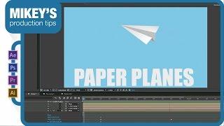 إنشاء الطائرات الورقية في After Effects tutorial