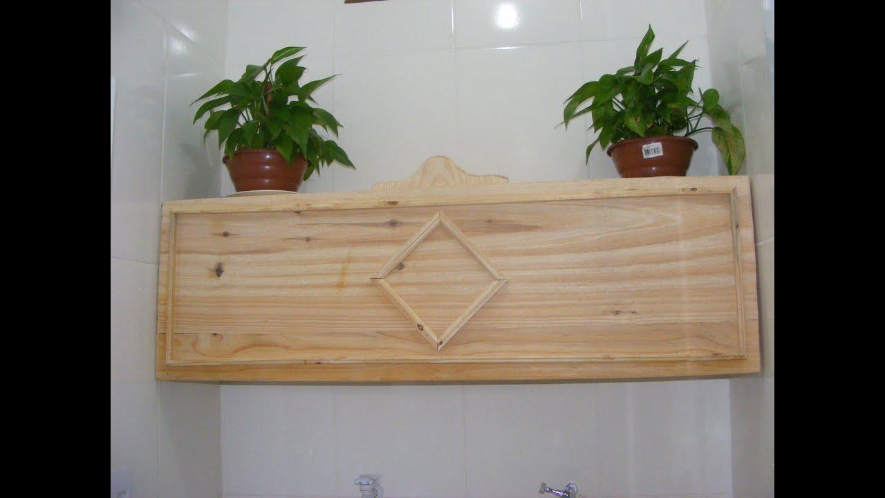 Armário para lavanderia feito em madeira de pinus   #2E3B10 3000x2250