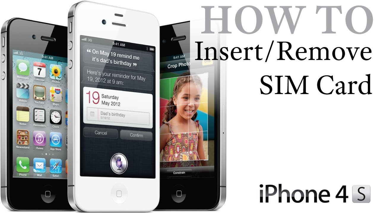 remove sim card iphone 4 iphone 4s how to insert remove a sim card 17956