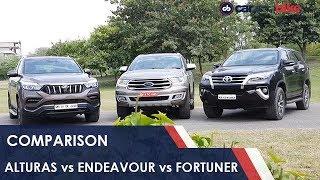 Mahindra Alturas G4 vs Ford Endeavour vs Toyota Fortuner | NDTV carandbike
