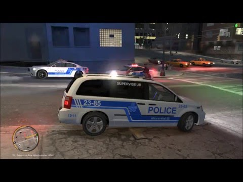 GTA IV PATROUILLE SPGM sa brasse à Montréal