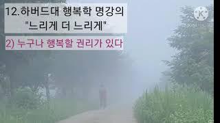 """12.하버드대 행복학 명강의 """"느리게 더 느리…"""