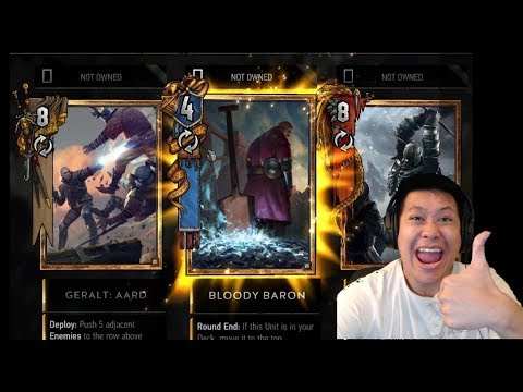 Gwent Open Beta 256 Pack Opening + Matches
