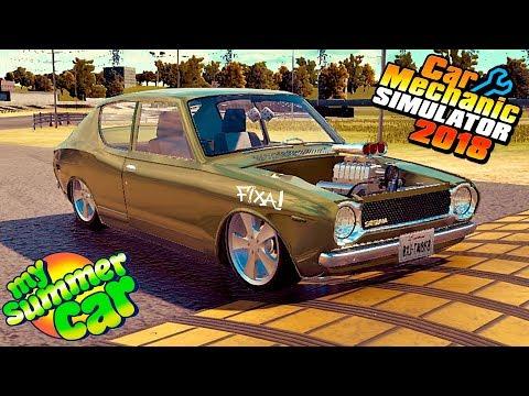 TÁ PRONTO! - V8 SUPER CHARGER NO SATSUMA DO MY SUMMER CAR - CAR MECHANIC SIMULATOR 2018