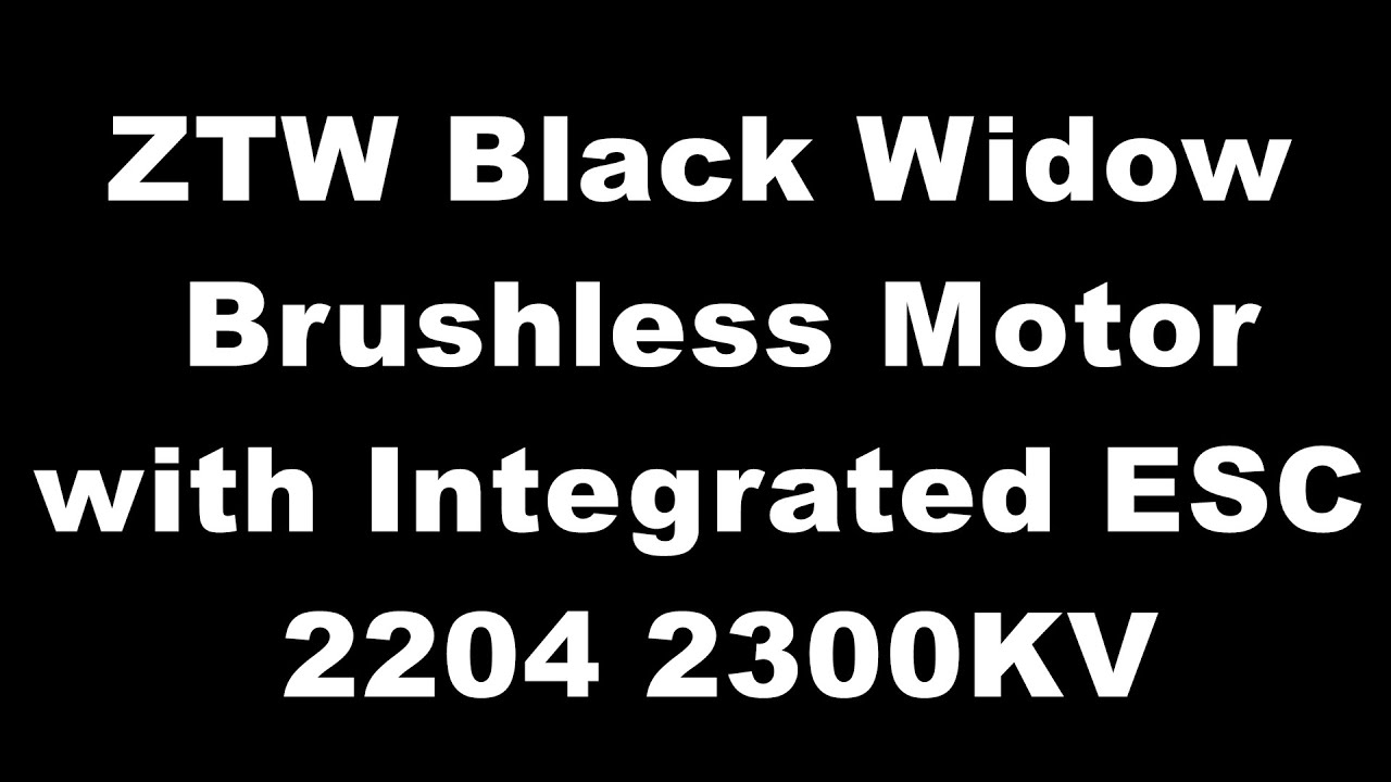 hight resolution of ztw black widow motor series featuring built in esc 2206 2200kv rc groups